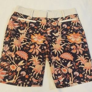 Anthropologie Patterned Cotton Shorts